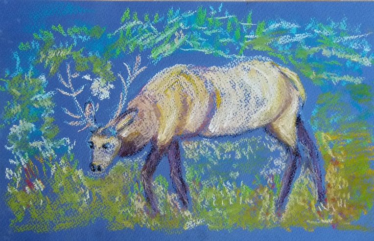 Painting A Canadian Moose by Gwenda Branjerdporn