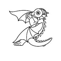 Print Color me! Dragon Baby z by Sue Ellen Brown