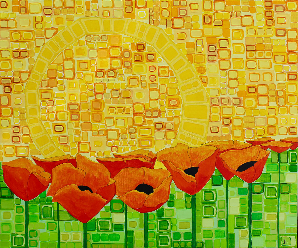 Acrylic painting Enough Sun For Us All by Donna Howard