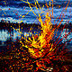 Acrylic painting Anatomy of Flame by Bryan  Coombes