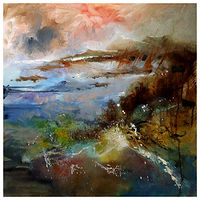 ROCK POOLS, 60x60 cm, oilon canvas by Anne Farrall Doyle