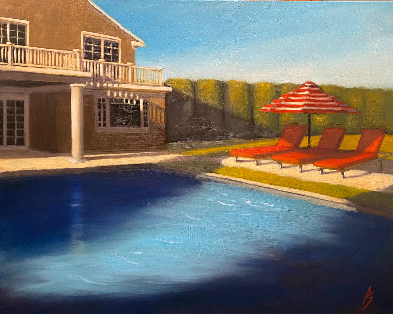 Oil painting Suburban Landscape 8 by Alex Selkowitz