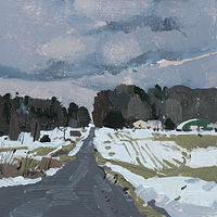 Acrylic painting Salvation Road, March 6 by Harry Stooshinoff