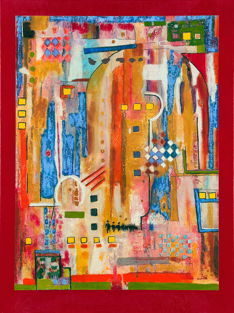 Acrylic painting Jukebox Five  40x30  $2600.00 by Edward Bock