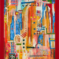 Acrylic painting Jukebox Five  40x30 by Edward Bock