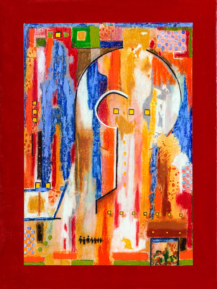 Acrylic painting Jukebox Four  24x18  $1250.00 by Edward Bock