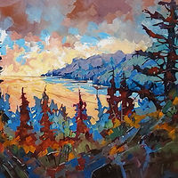 Lake Superior Morning  Acrylic 36x60 2020 by Brian  Buckrell