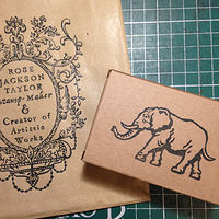 Elephant stamp - I love making these elephant stamps. by ROSE WILLIAMS
