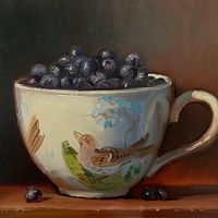 """Blueberries in Birds of Britain""  by Noah Verrier"