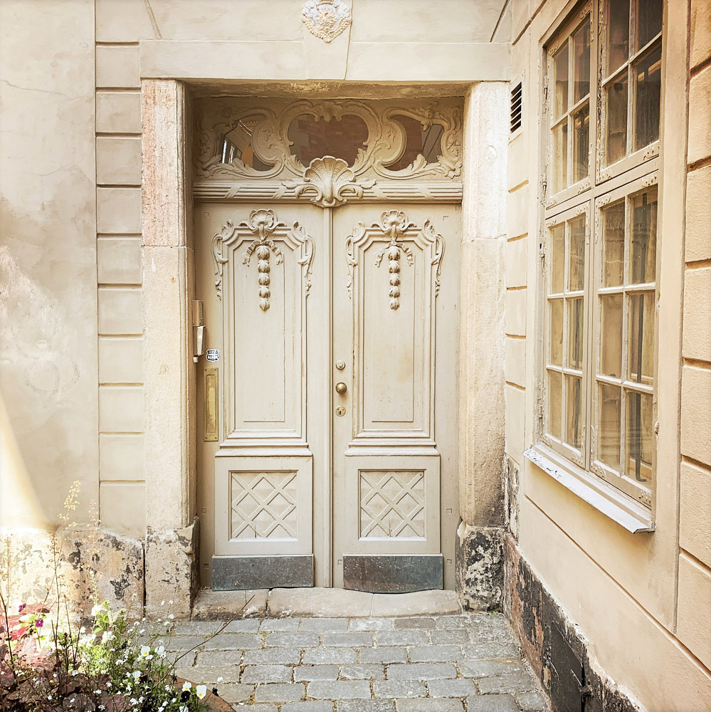 White Doors, Stockholm, Sweden by Susan Raines