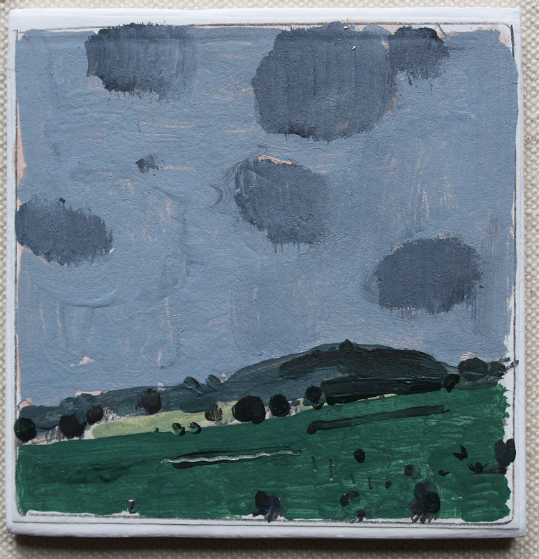 Acrylic painting Coming Rain  by Harry Stooshinoff