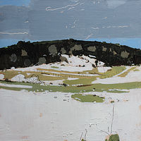 Acrylic painting Coyote Hill, March 12 by Harry Stooshinoff