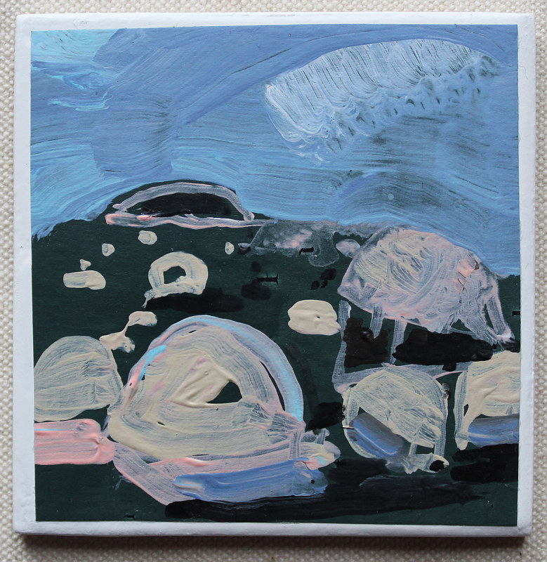 Acrylic painting Rock Field by Harry Stooshinoff