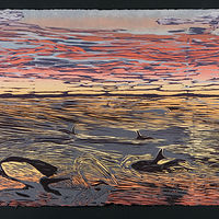 "Whale of a Sunset (24""X36"") by Cathie Crawford"