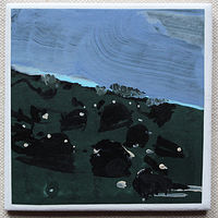 Acrylic painting Rock Field, Night  by Harry Stooshinoff