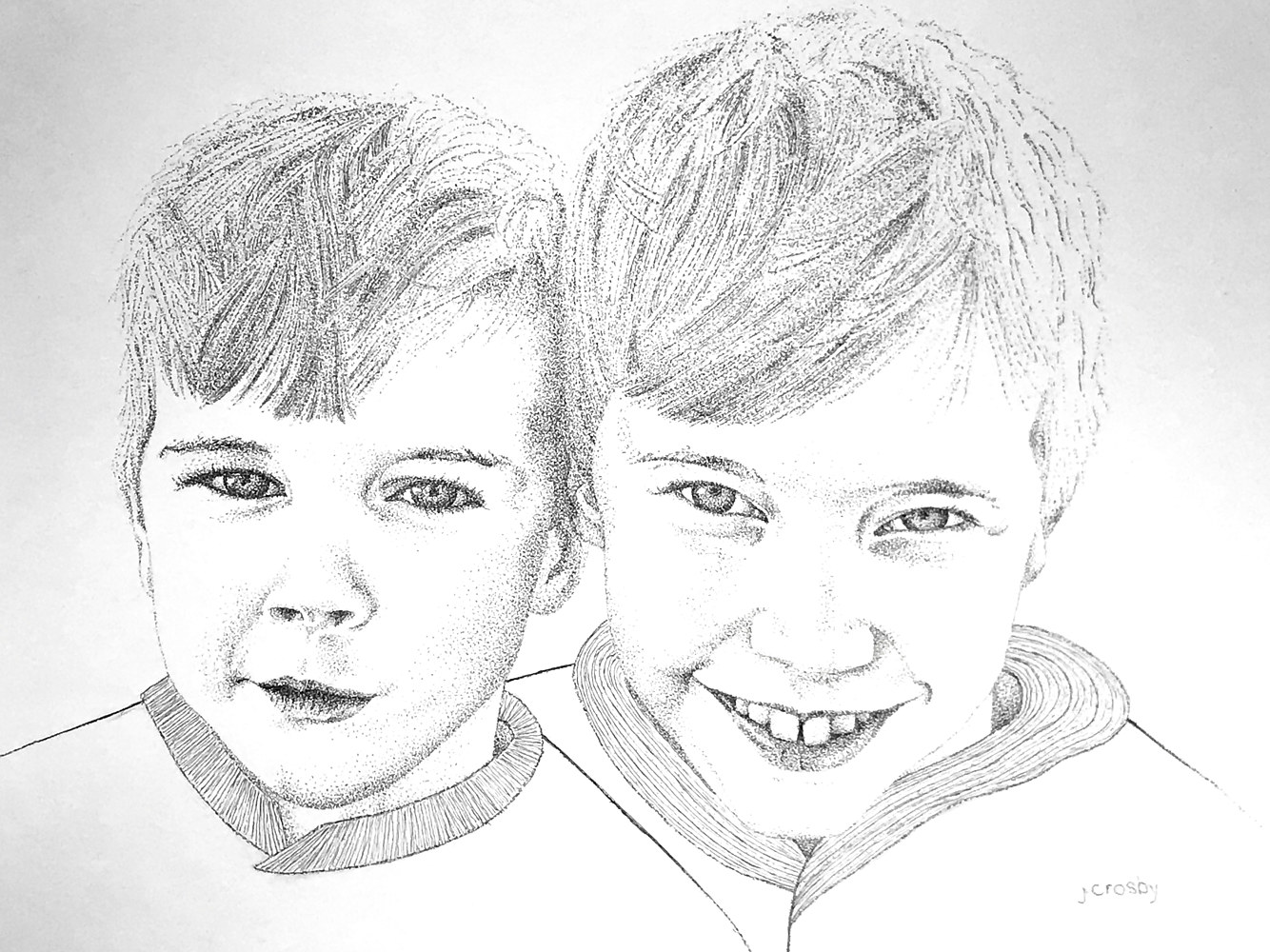 Drawing Brothers by Jane Crosby
