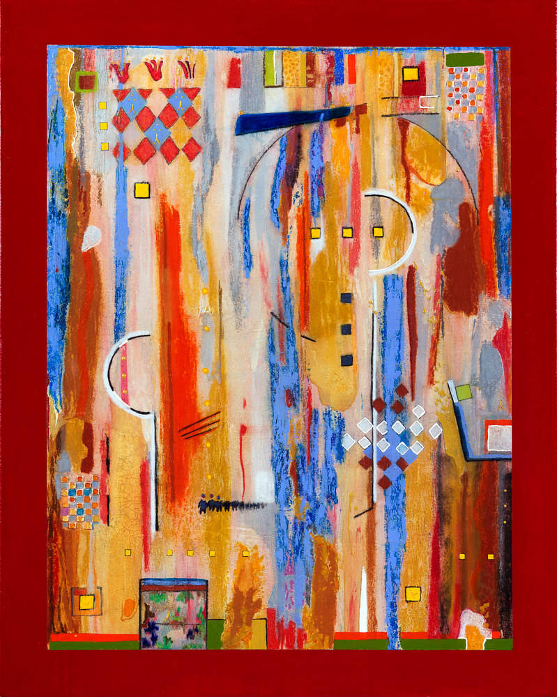 Acrylic painting Jukebox Six     30x24  $1550.00 by Edward Bock