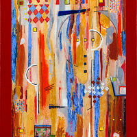 Acrylic painting Jukebox Six     30x24 by Edward Bock