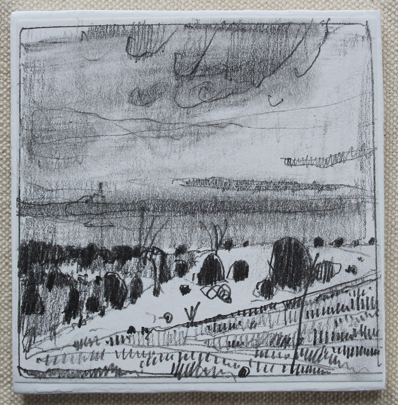 Drawing Hillock  by Harry Stooshinoff
