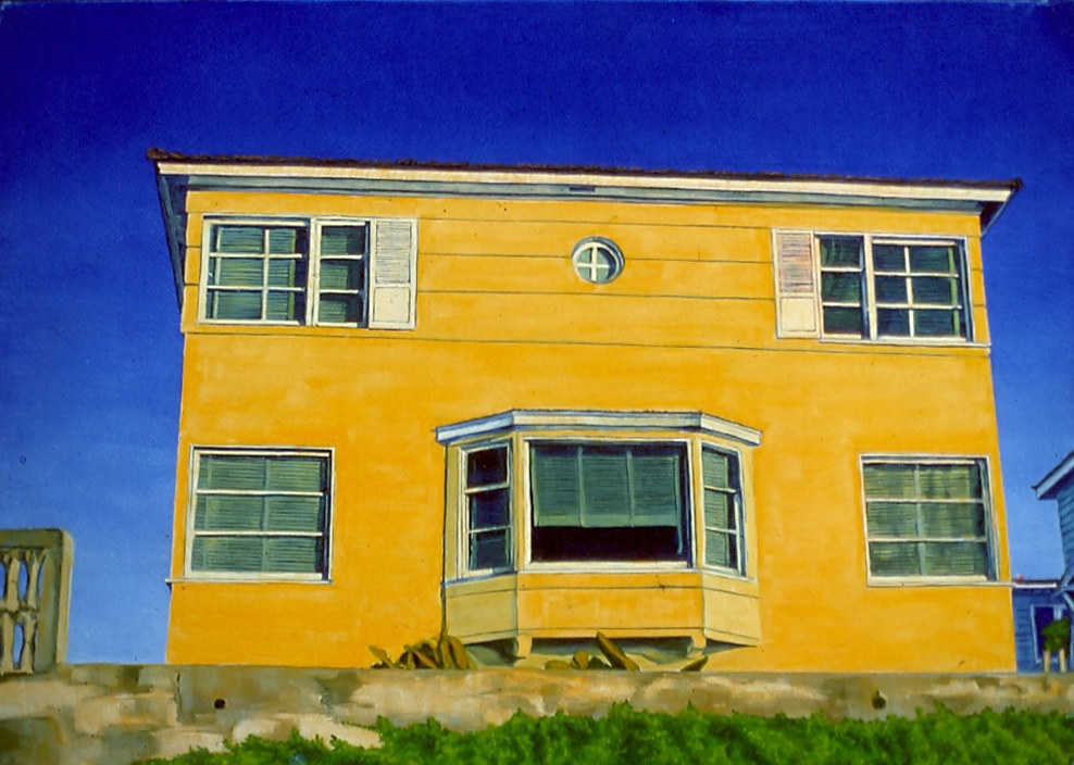 Oil painting Yellow House 1994 by Robert Milling