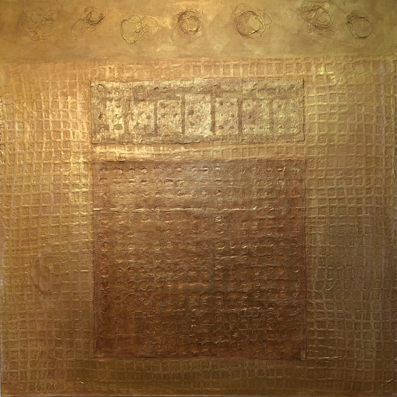 Oil painting AFTER FALLEN SOLID GOLD  by Patricia Rain Gianneschi