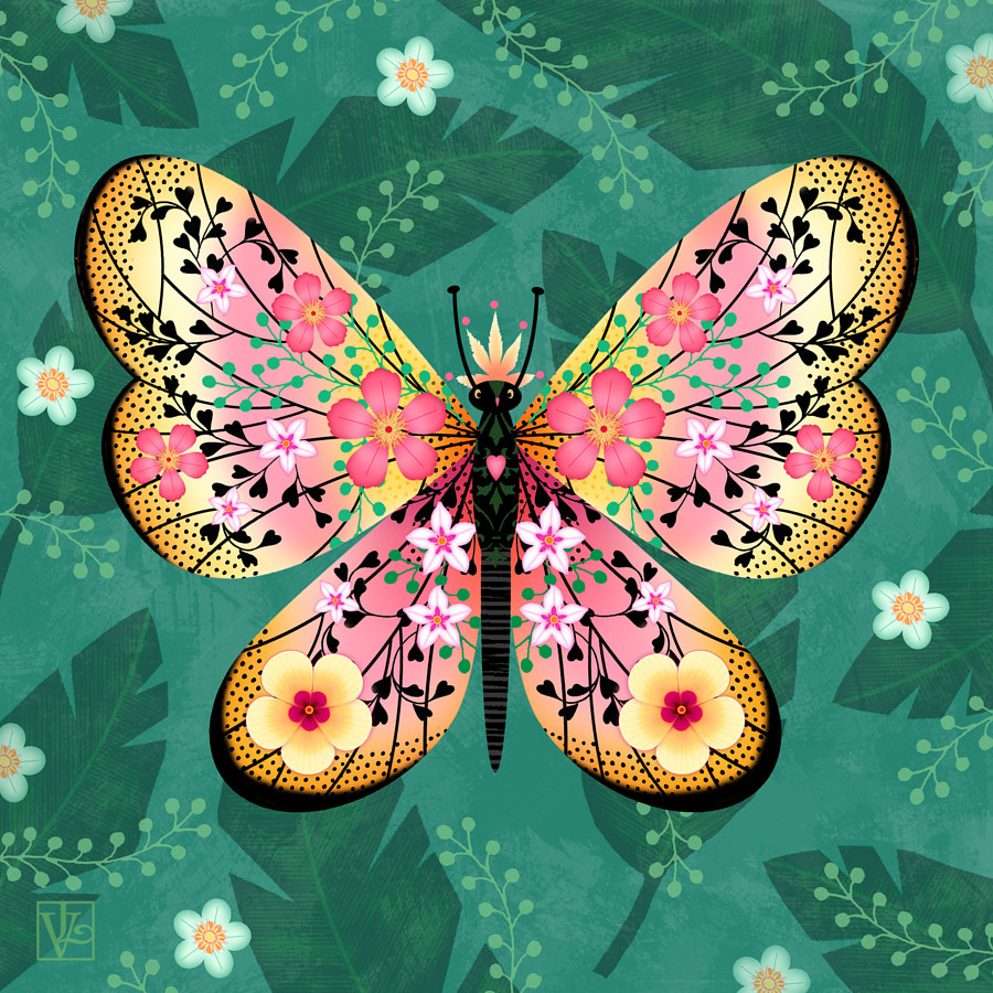 Beautiful Butterfly Blessing  by Valerie Lesiak