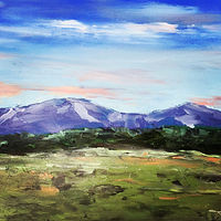 "Oil painting ""Mountain View"" by Anne French"