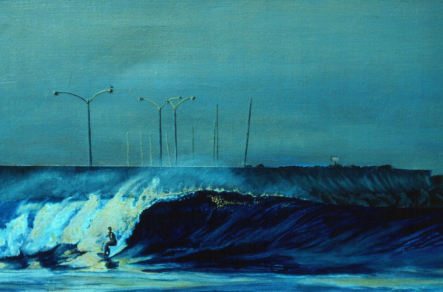 Breakwall Morning 1992  by Robert Milling