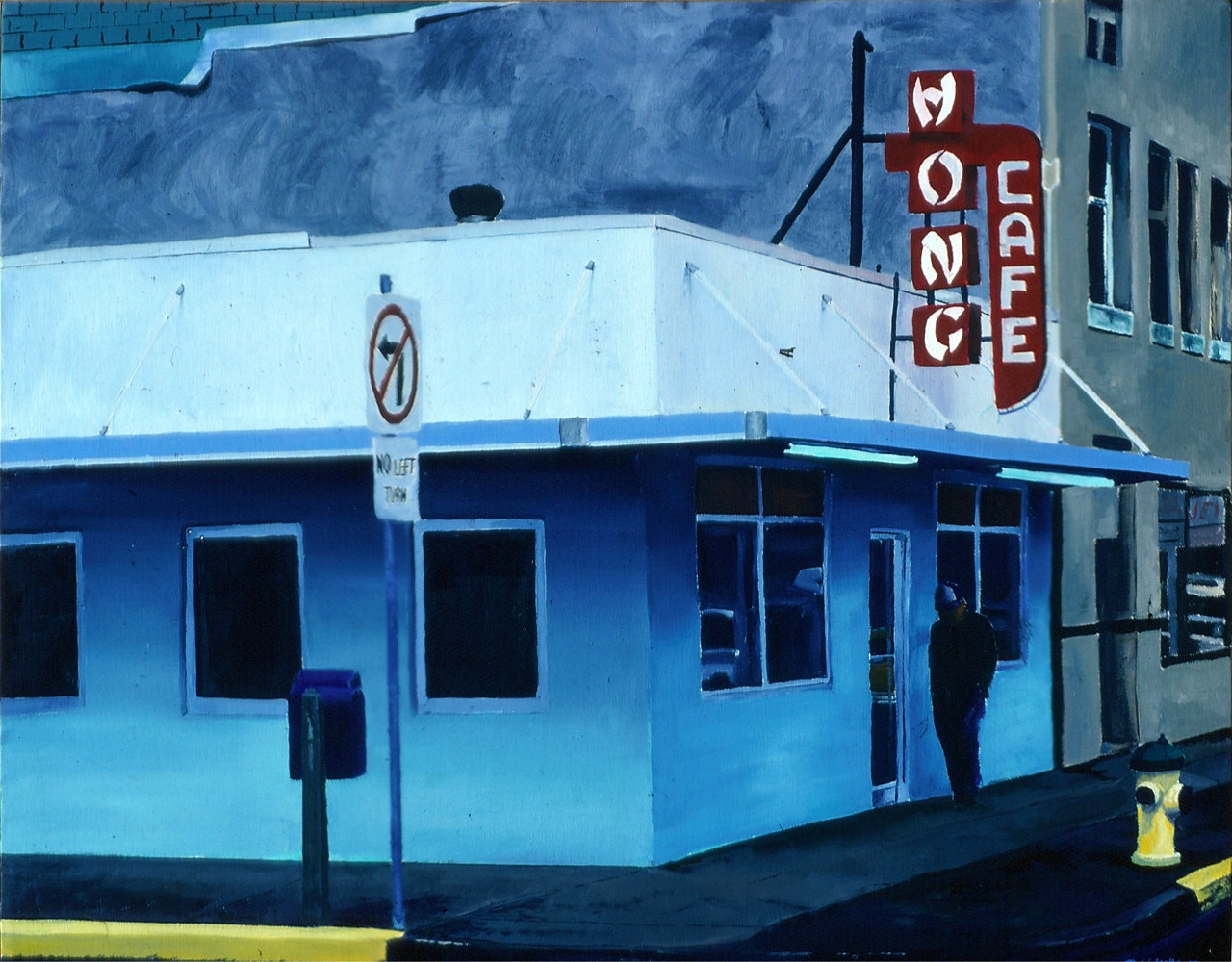 Wong Cafe 1987  by Robert Milling