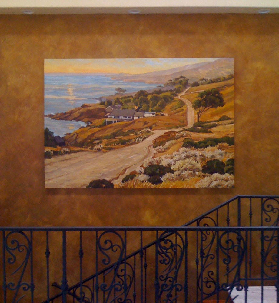 laguna impressionist painting on wall by Robert Milling
