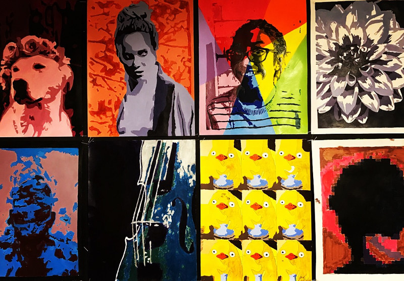 Pop Art inspired paintings by Tamara Rusnak