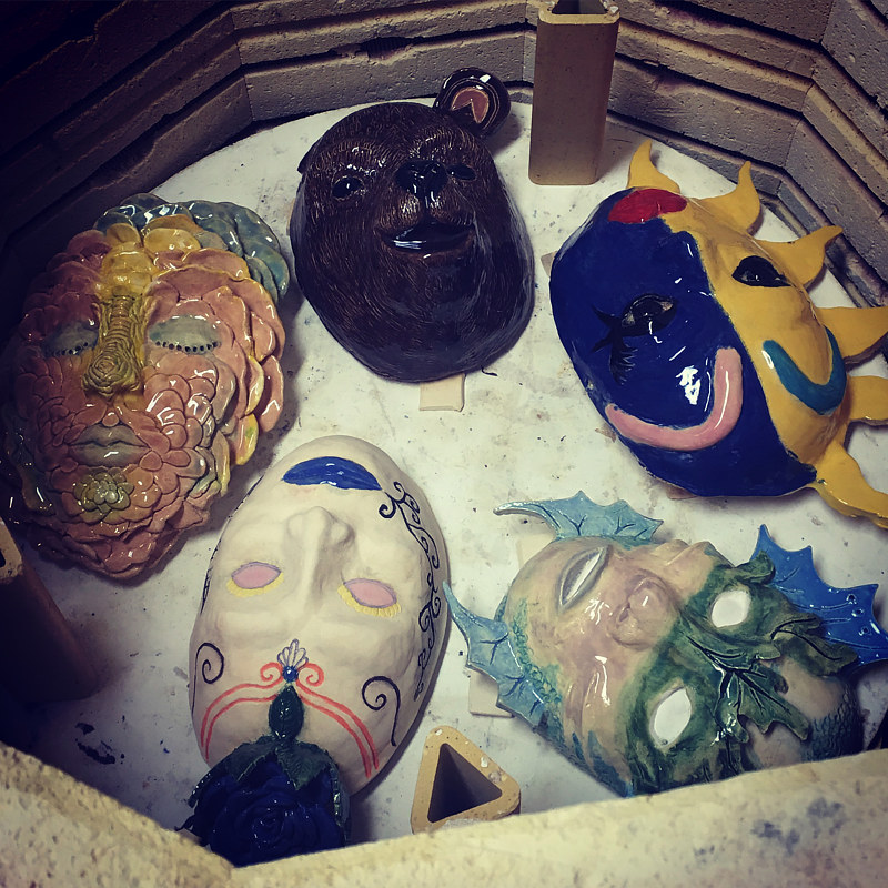 Clay masks by Tamara Rusnak