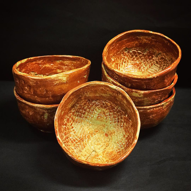 Oil painting Soup bowls by Tamara Rusnak