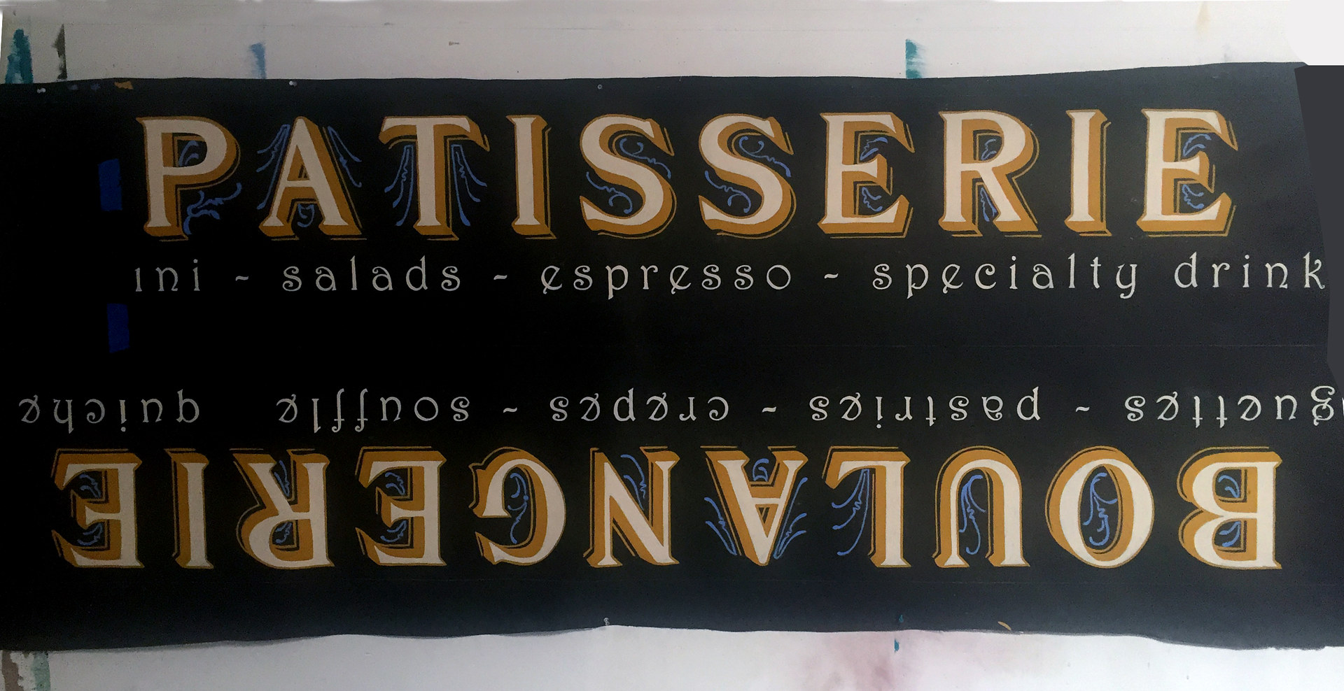 French Cafe Signage by Robert Milling