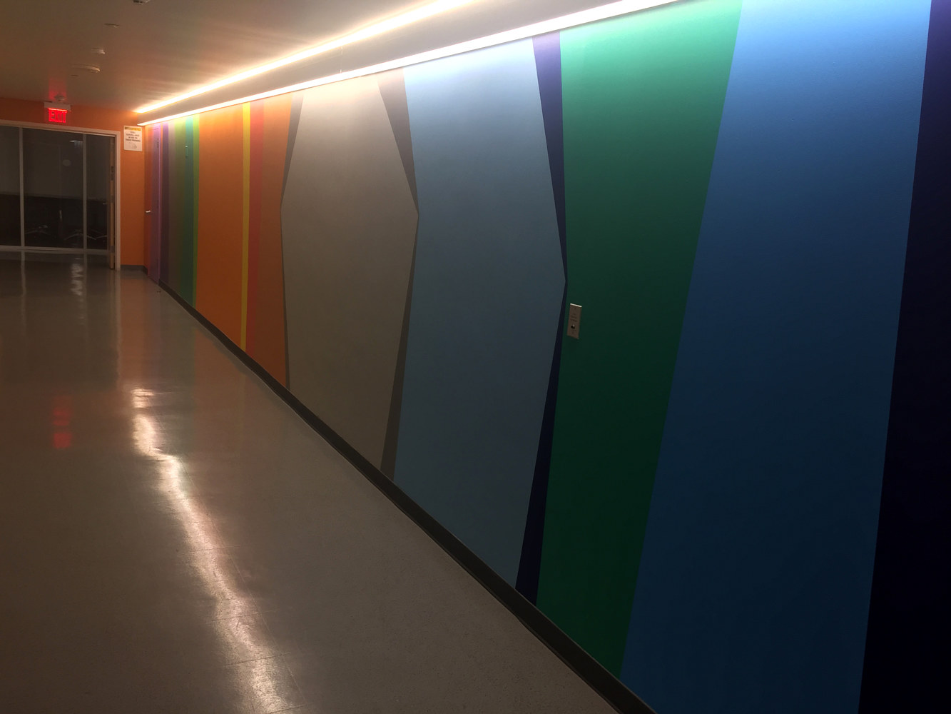 Otis Art Institute Hallway Stripes by Robert Milling