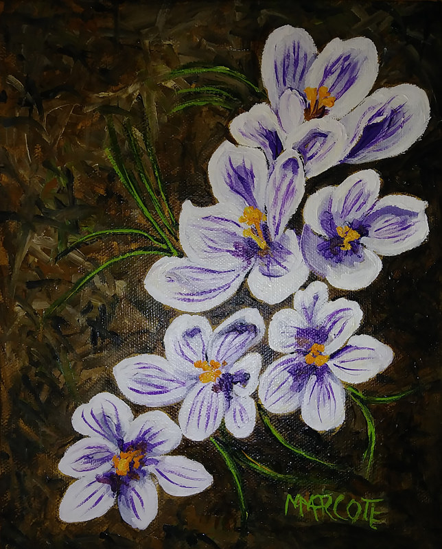 Oil painting Early Spring  by Michelle Marcotte