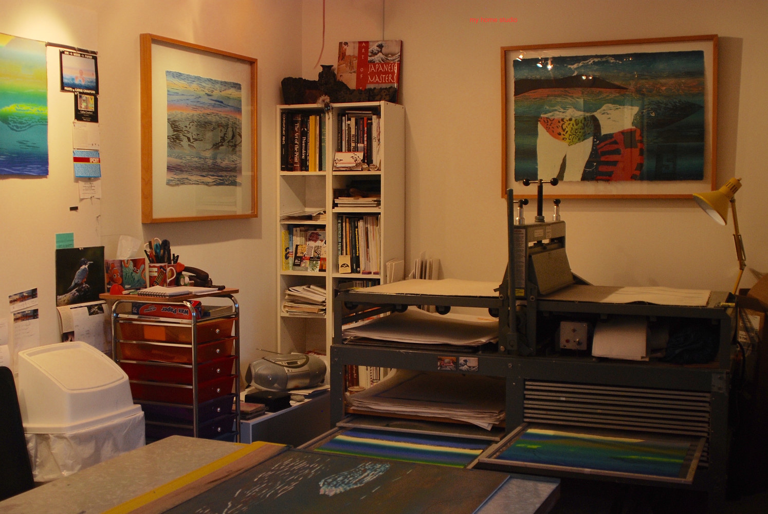 Print a home studio by Cathie Crawford