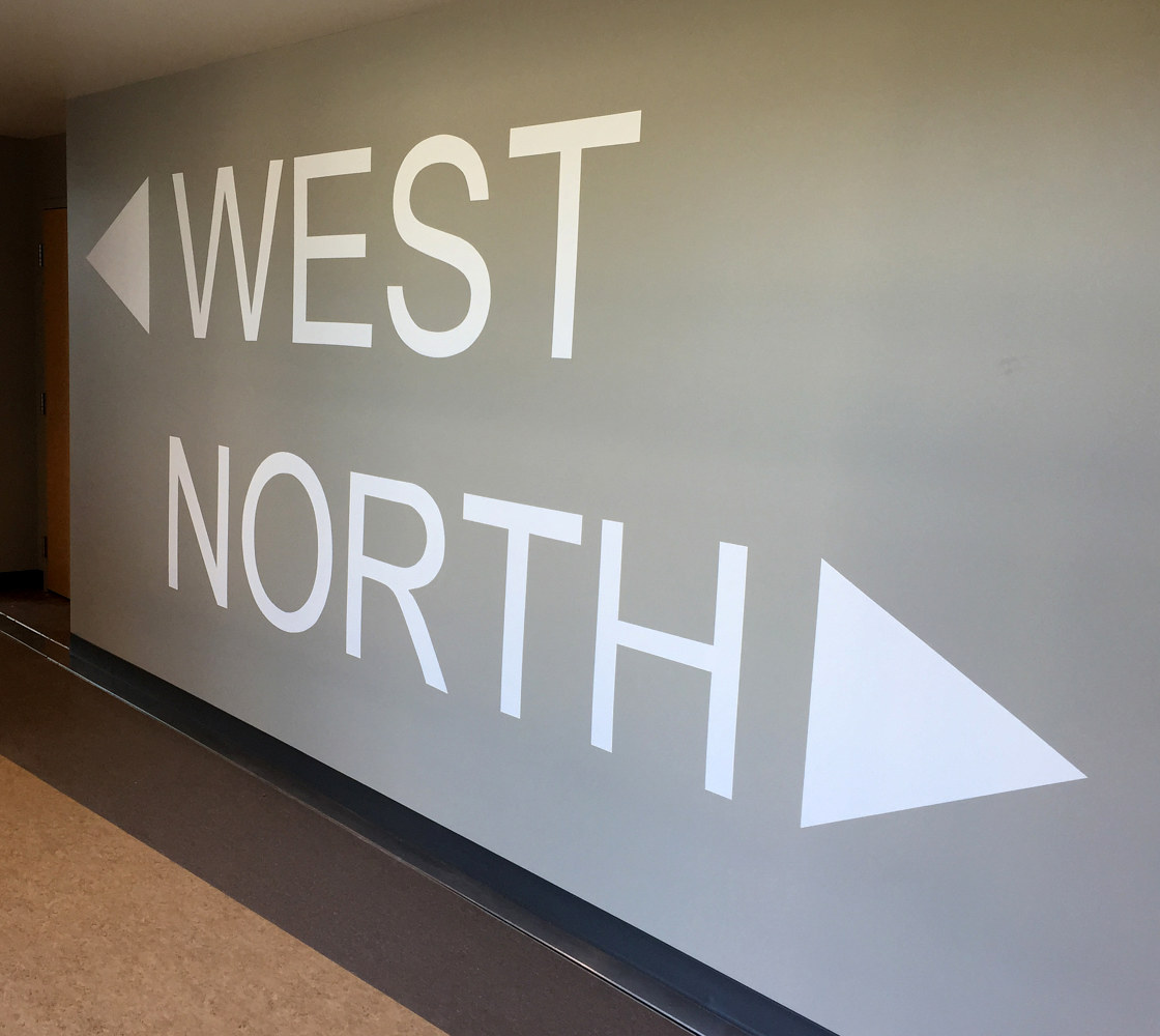West North signage by Robert Milling