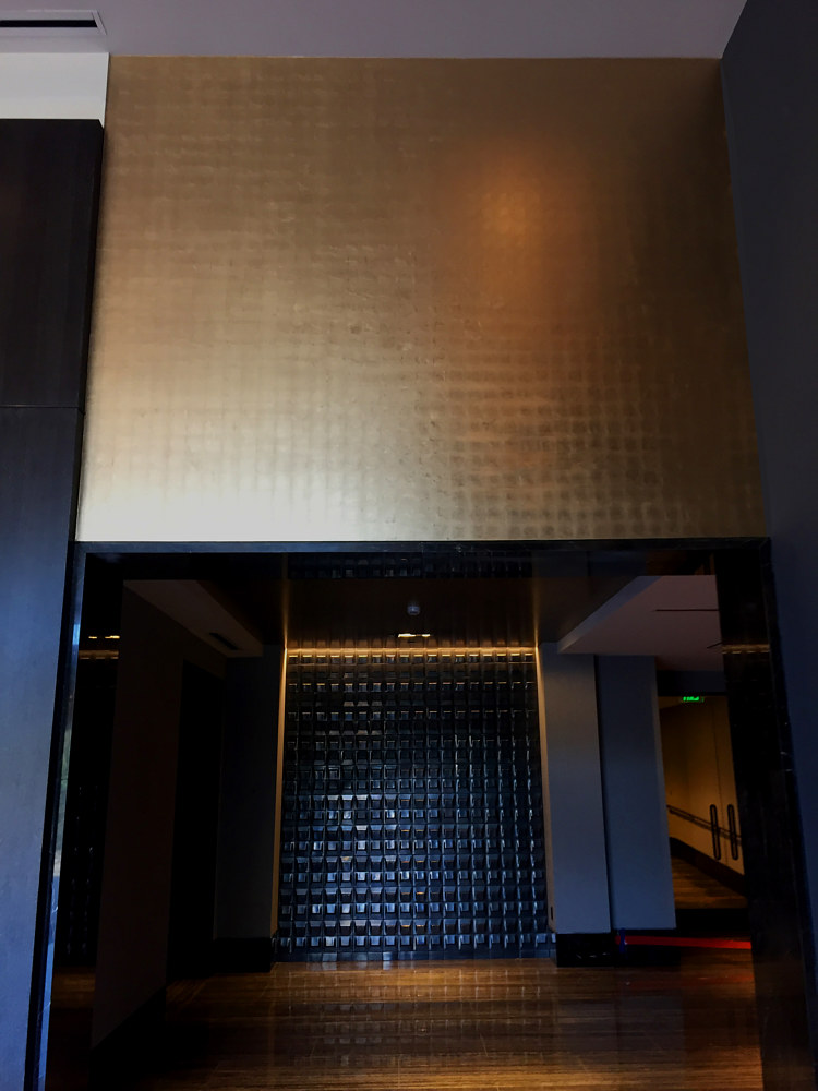 Beverly Hills Condominium Moon Gold Wall (2) by Robert Milling