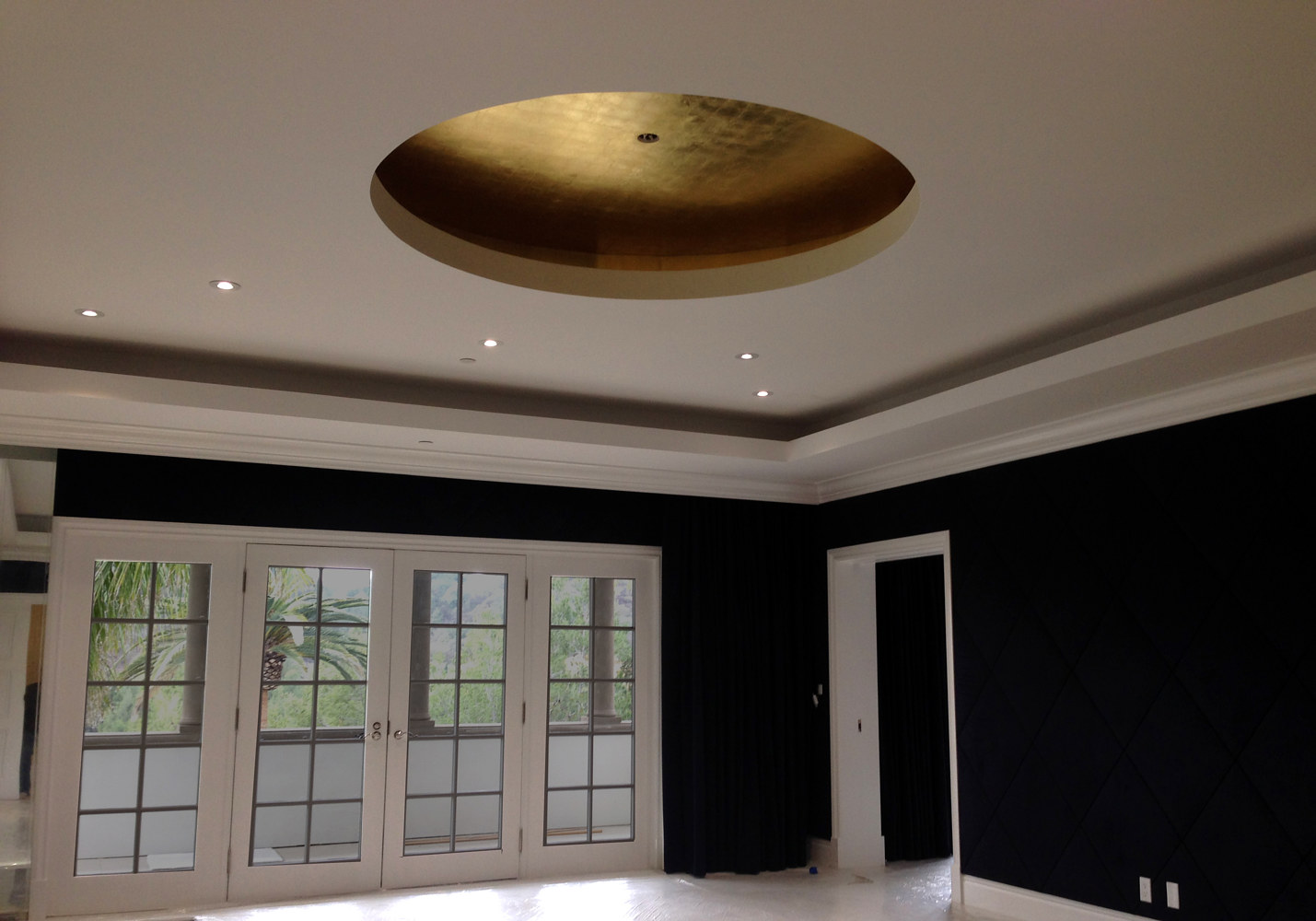 Beverly Park 24K Gold Guest room Insert Ceiling by Robert Milling