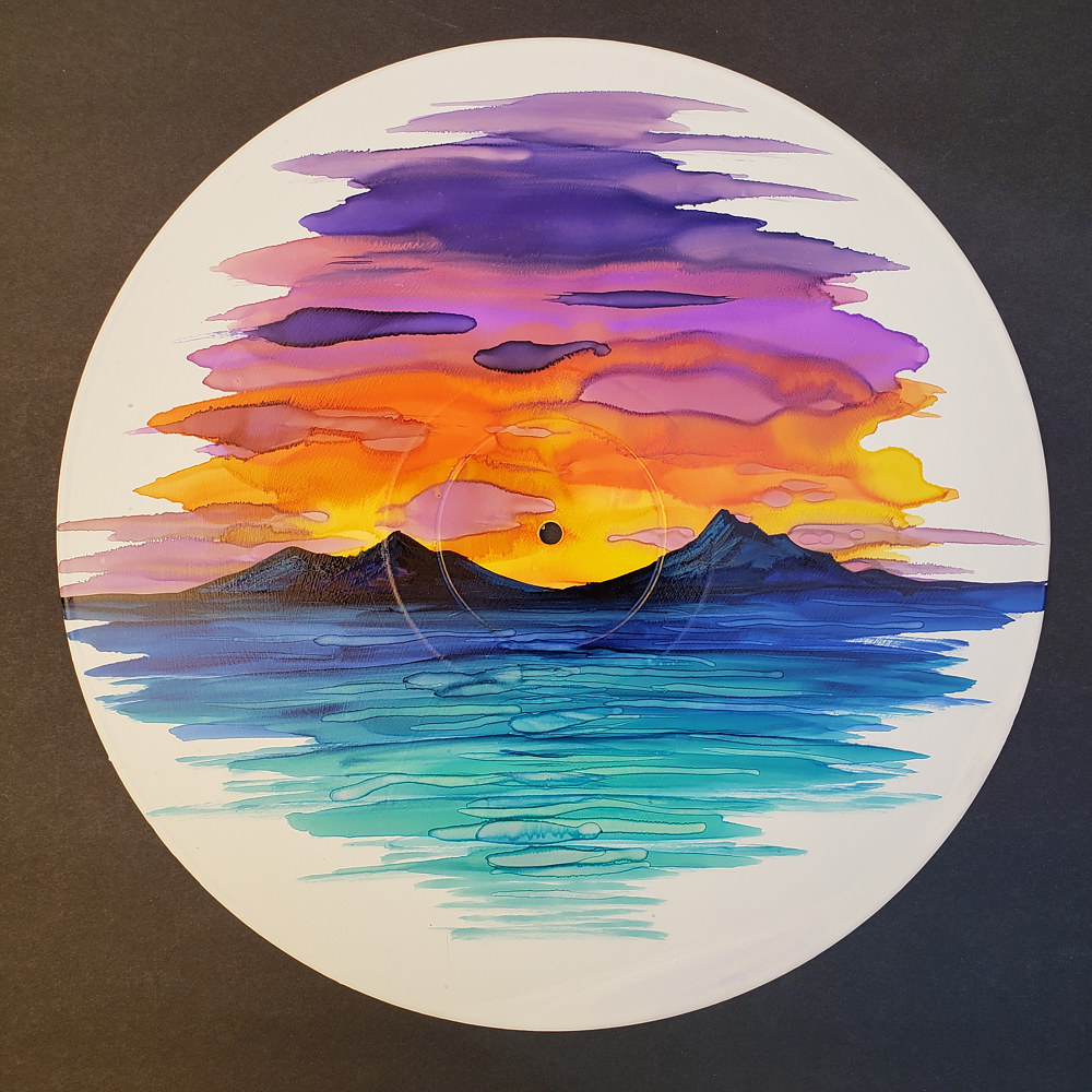 Alcohol Ink on Vinyl  by Isaac Carpenter