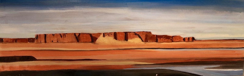 Oil painting Red Mesa Late Day by Steve Latimer