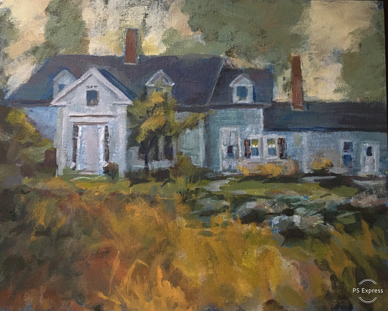 Acrylic painting Nova Scotia Home by Bernard Dick