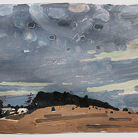 Acrylic painting Lost Dog Hill, April 4  by Harry Stooshinoff