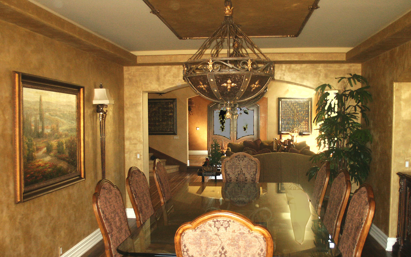 Anaheim Hills Metallic Plaster Dining Room web 1 by Robert Milling