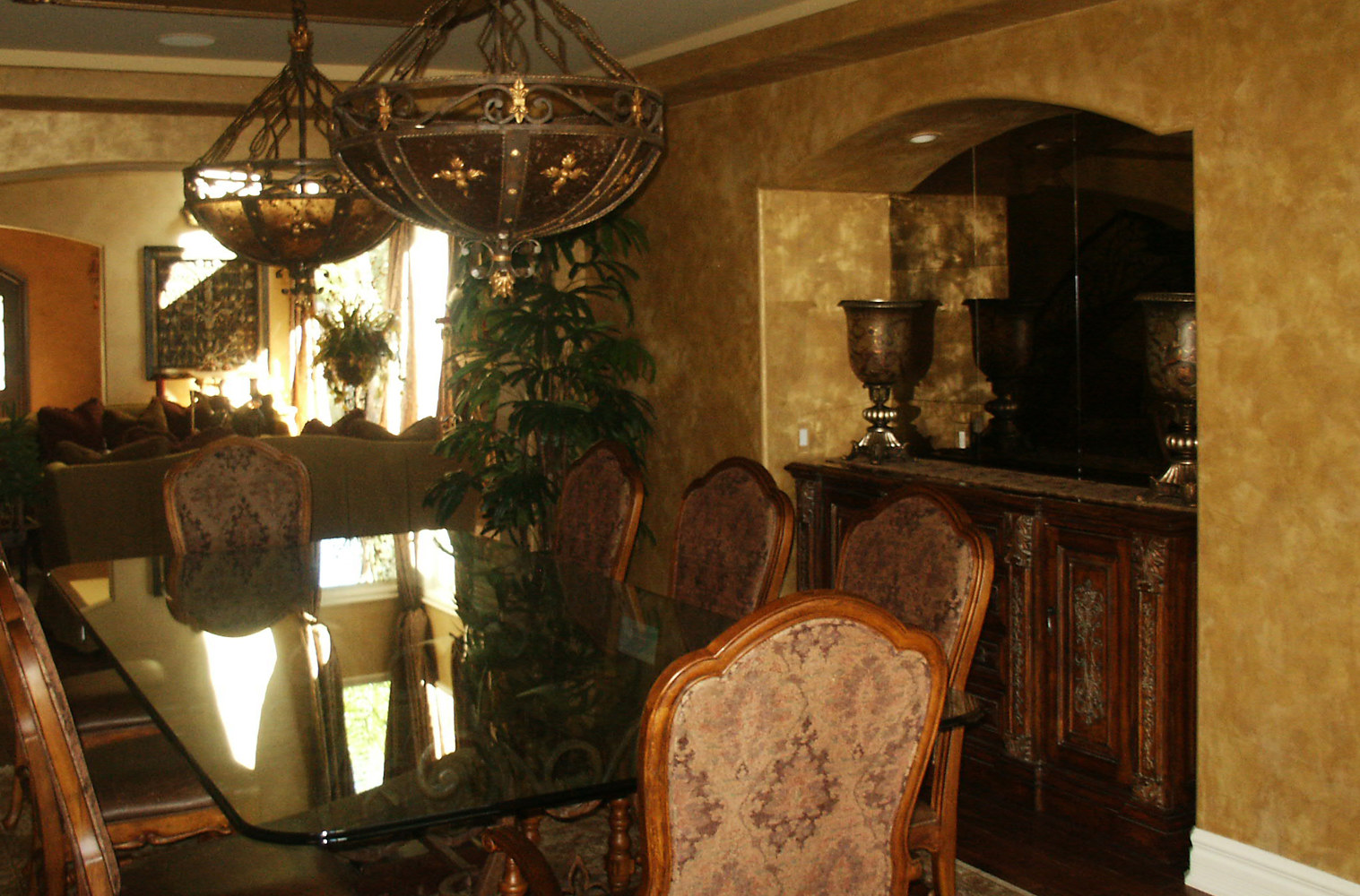 Anaheim Hills Metallic Plaster Dining Room web by Robert Milling