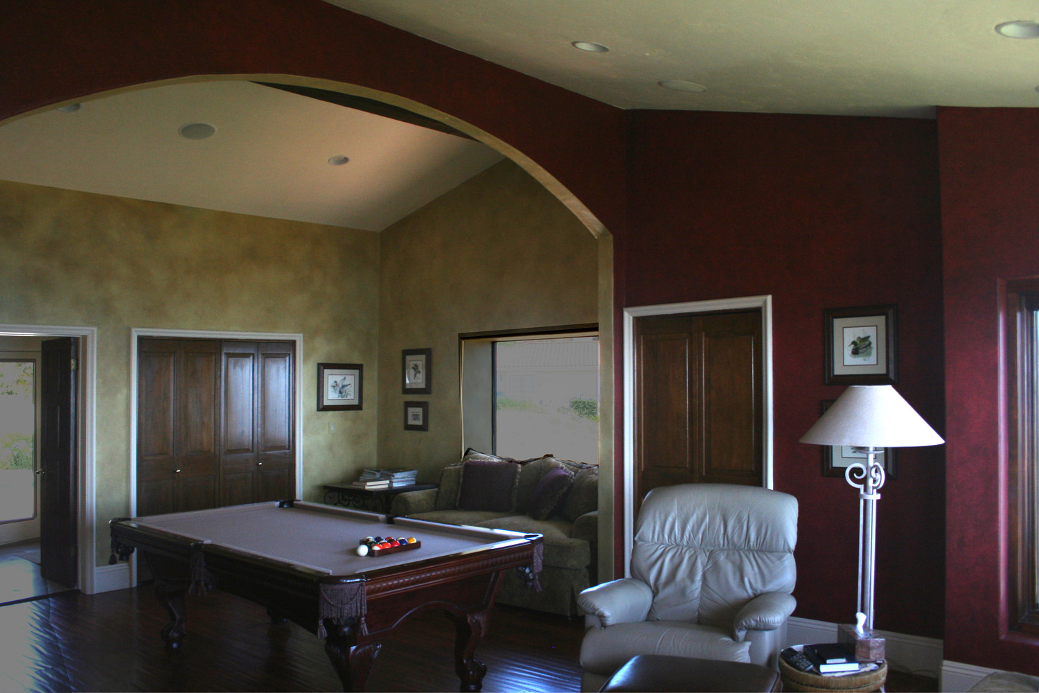 Game room with two color finishes by Robert Milling