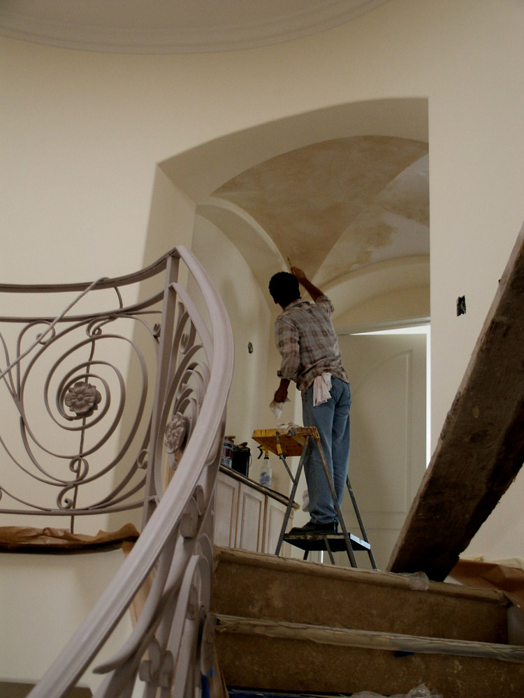 Installing glaze to vaulted ceilings by Robert Milling