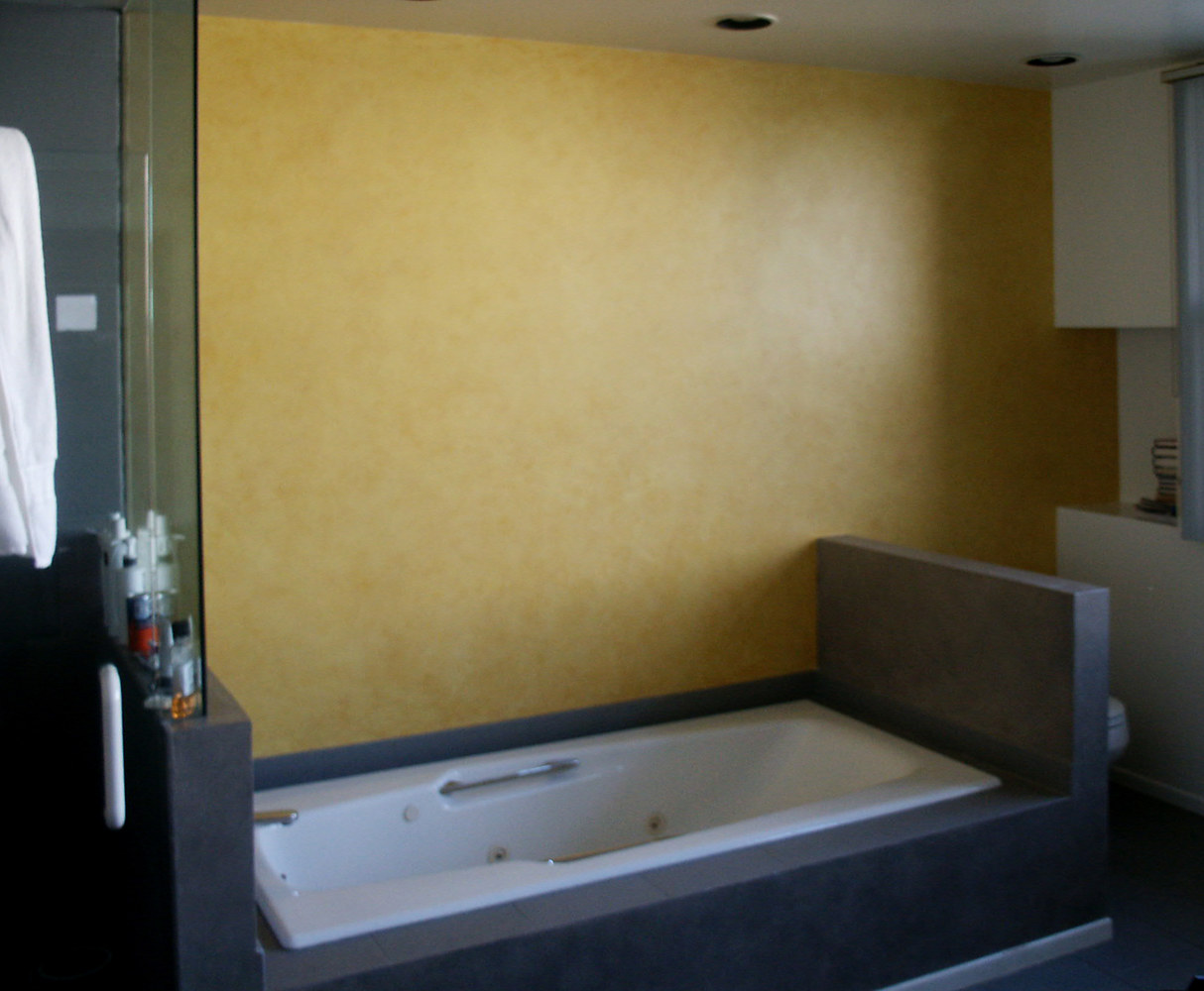 Manhattan Beach Residence Modern Finishes Master Bath by Robert Milling