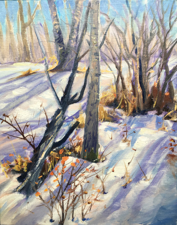 "Oil painting  ""Winter Light"" by James Lutzko"